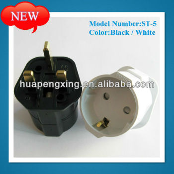 Euro Plug To Uk Schuko Plug Adapter