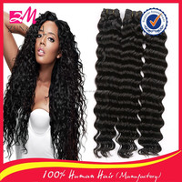 qingdao hair factory best price grade6A deep wave virgin remy human hair extension indian hair