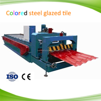 Good price glazed roofing tile making machinery for steel structure building