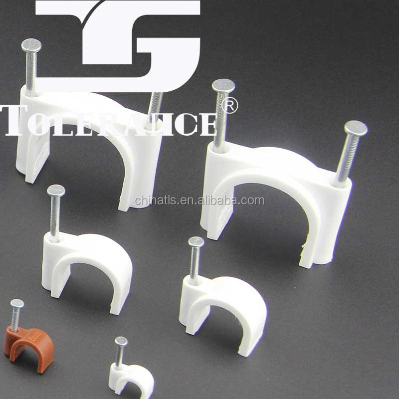 Various Types Plastic Wall Cable Clip/Electric Wire Cable Clip