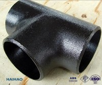 ANSI B16.9 Steel Equal Tee/Welded Tee with PED & ISO Certificates