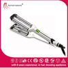 Triple barrel hair curling iron hair waver with big wave professional black hair curling irons