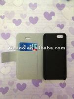 frosted credit card slot wallet leather case for iphone 5