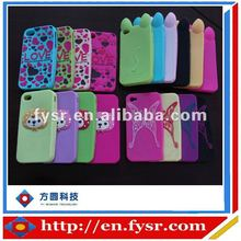 Cute and Popular Silicone Lovely Cat Case Cover For phone