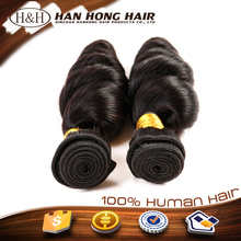3 bundles 100% malaysian loose wave virgin hair weft sealer