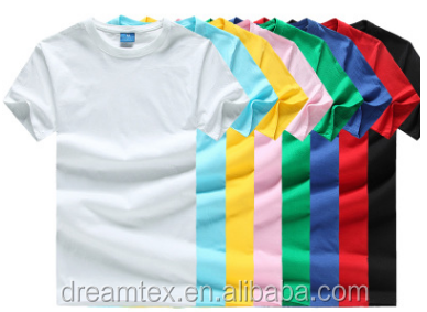 Men's T-shirt Cotton Short Sleeve Custom T-shirt Pure Color Blank