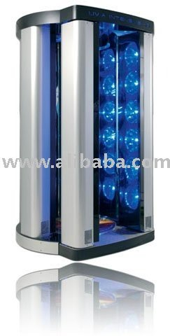 X6 High Pressure Tanning Booth- Stand UP 36 Lamps 700 W