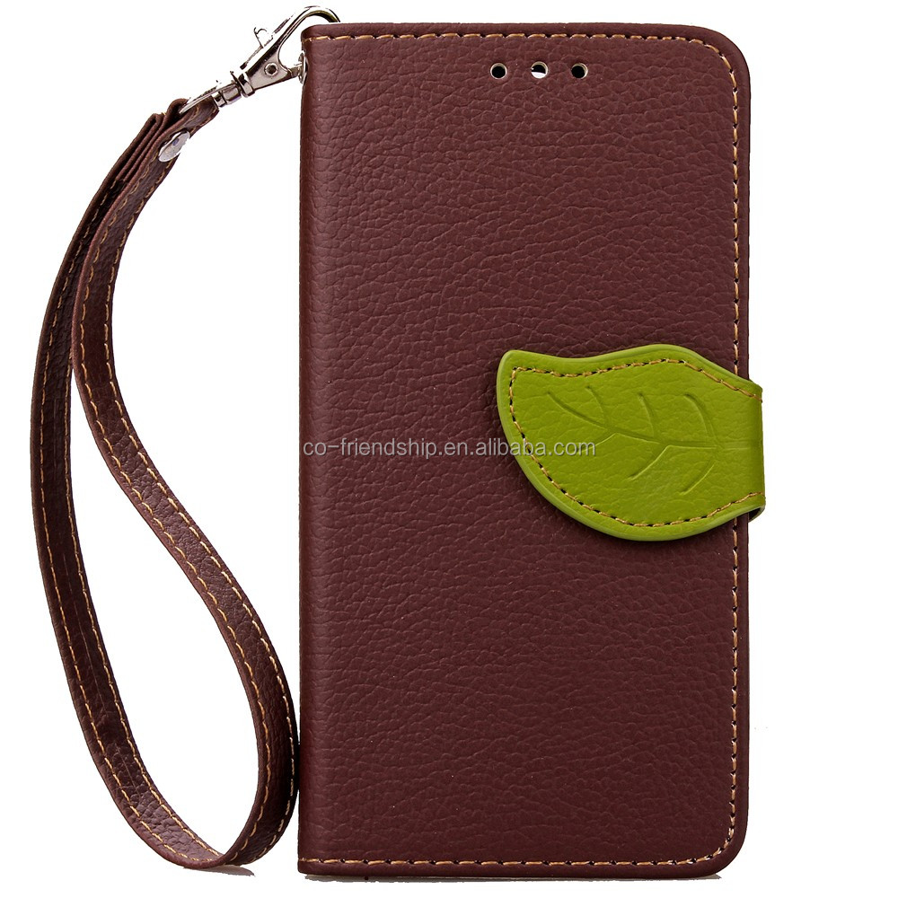 2016 new product leaf design PU Leather Case Cover for Samsung Galaxy s4 mini 9190
