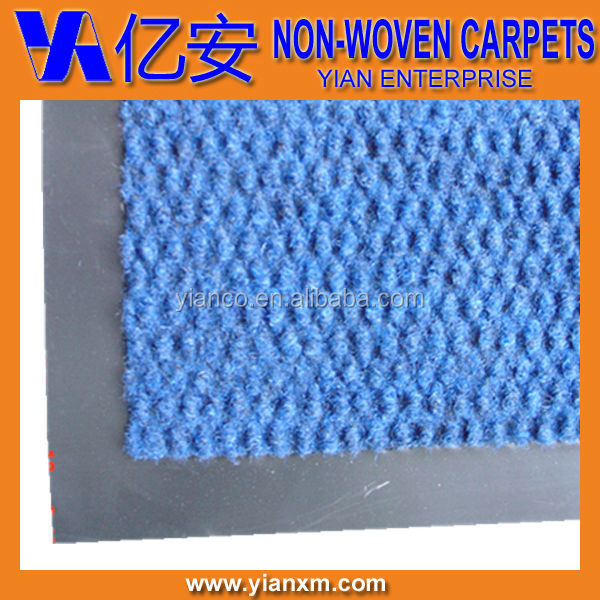 Blue pineapple grain PVC polypropylene floor mat