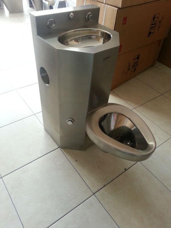 acier inoxydable toilettes prison combinaison toilette et vier nrm 5002 salle de bains id de. Black Bedroom Furniture Sets. Home Design Ideas
