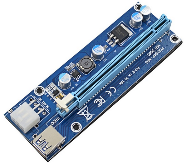 60cm USB 3.0 PCIe 1x to 16x PCI Express Extender Riser Card with SATA 15pin to 6pin power cable for bitcoin mining BTC