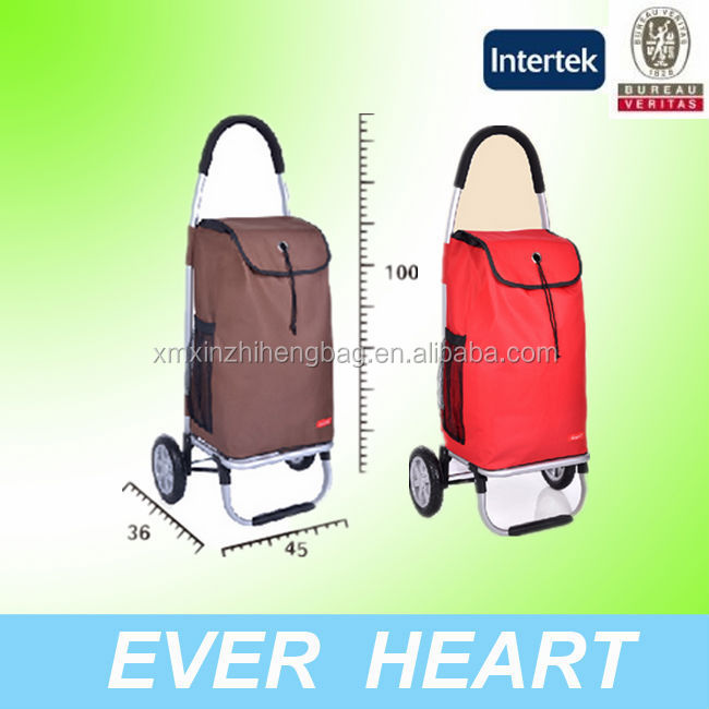 Portable trolley shopping bag with wheels