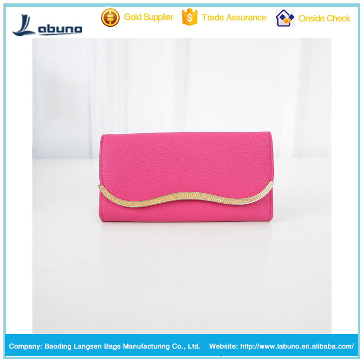 factory wholesale candy color women wallet leather purse