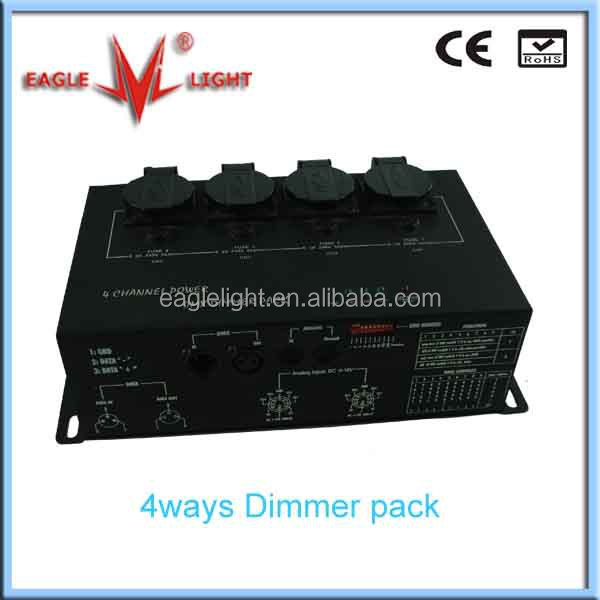 led christmas light dmx 4CH dimmer pack for stage light from Eagle light,Guangzhou,China