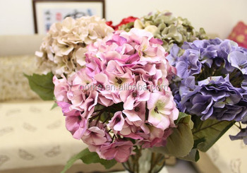 cheap artificial hydrangea flower for wedding