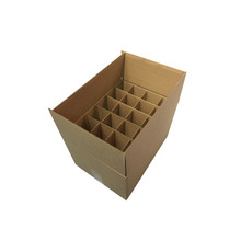 24 Glass Bottle beer shipping Corrugated Carton Wine box