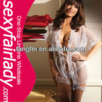 European lady sexy transparent brief babydoll