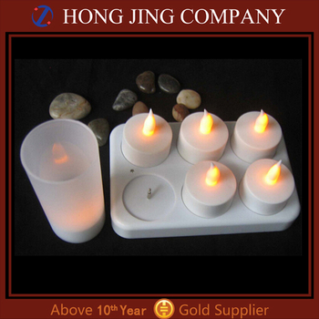 Led rechargeable candle made in china