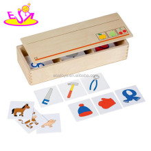 Educational Wooden Domino Toy For Kids,Creative Domino Game Toy for children,Best seller Wooden Domino Toy Play Set W15A055