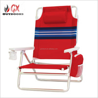 Outdoor lightweight folding reclining beach lounge air tube chair