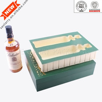 2015 Luxury Magnetic Wine Glass Gift Box with Double