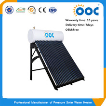 Hot selling heat pipe colar steel solar geyser pressure rooftop solar water heater