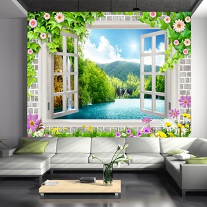 Hot selling modern print art sticker wall decoration 3d flower painting