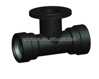 dci pipe fitting double socket Tee with flange branch