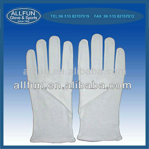 Fashion new design useful 100% cotton white industrial glove