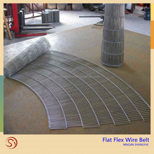Low factory price High Quality stainless steel flat flex wire mesh conveyor belt
