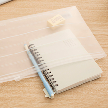 A4/A5 Transprent Matte Plastic Document FIle bag/file holder/Portfolio/Notes Pouch Zip closure High quality