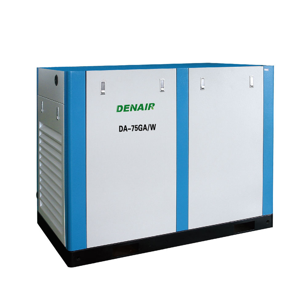 100hp rotary screw shaft connect air compressor