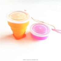 Folding safe silicone drinking mug cup travel accessory