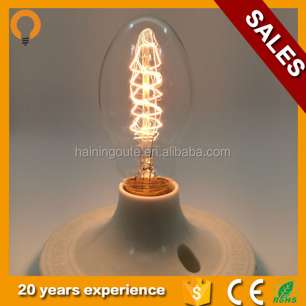 China Energy saving BT55 E26 E27 B22 Spiral Lamp edison bulb