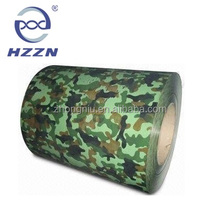 Camouflage Pattern Printed Colour Coated PPGI Steel Coils