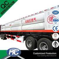 Customized CNG natural gas trailers / gas tank transport / CNG cascade skid container on sale