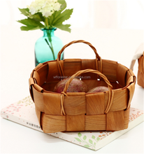 wholesale high quality cheap woven wooden baskets