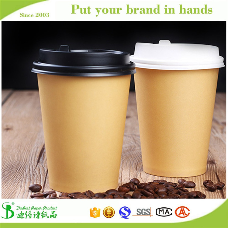 Hot!! Fast food restaurant eco friendly kraft paper coffee cups for black coffee