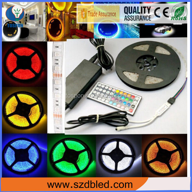Outdoor waterproof side emitting mini rgbw 5050 led light strip