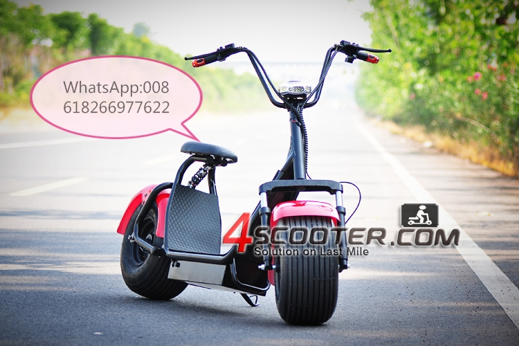 2017 New 50-80km 2000w scooter Electric Battery scrooser 1000w 72v 12ah Citycoco