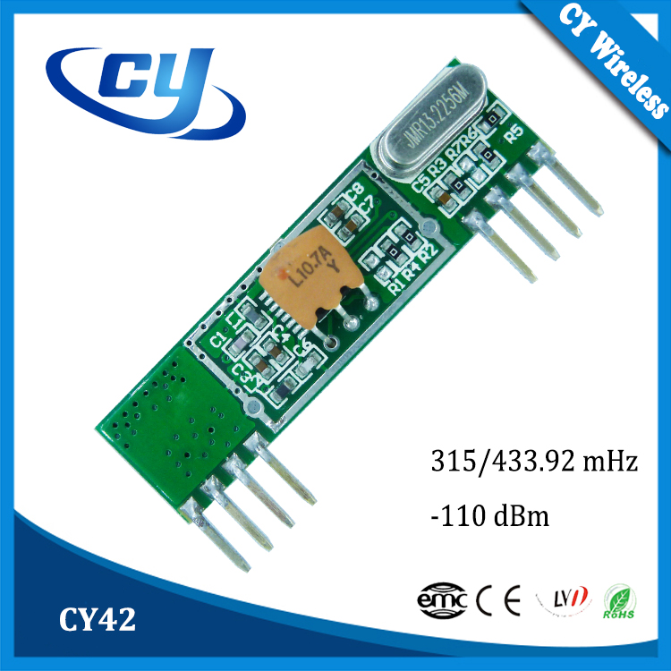 CY42 ASK/OOK 433.92mHz Wireless RF Receiver Module