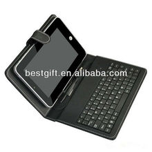 wholesale leather tablet pc case with keyboard and touchpad