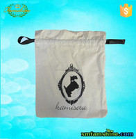 natural drawstring cotton bag for shoe
