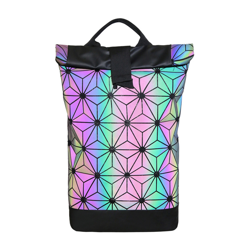 Custom ultrathin โฮโลแกรม tpu rainbow กระเป๋า Iridescent backpack