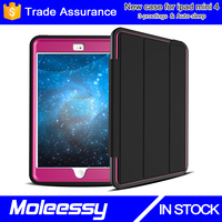 Hot selling wallet flip pu leather case for ipad mini / for apple ipad mini 4 smart case