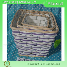2015 wholesale artificial willow fruit basket at Christmas