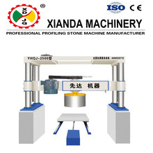 2017China Xianda High quality arc shaped Stone Cutting machines/circular slabs cutters with four cylinder gantry style YHQJ-2000