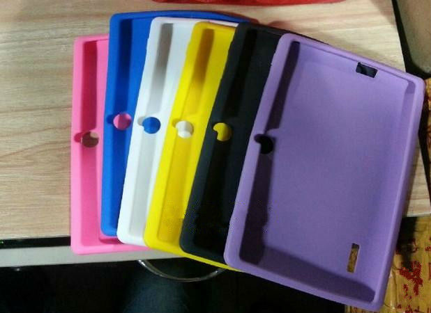 silicon case for 7 inch tablet pc Q88 A13 with Colorful