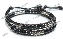 Popular Wrap Leather Bracelets With beads