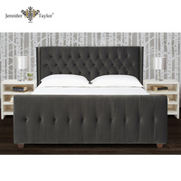 Bedroom Furniture French upholstered latest double bed designs 52030-4-860-2